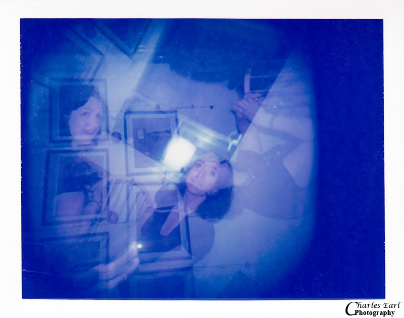 Multiple exposure of Christine and Sandra