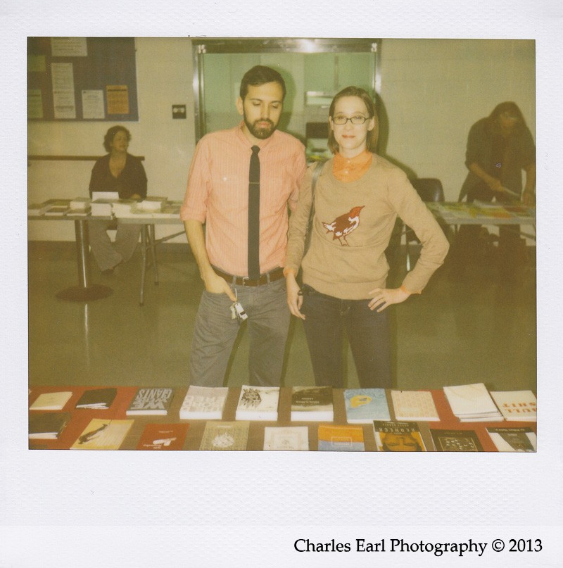Brian Mihok and Jennie Hoag at the Fall Small Press Fair 2013